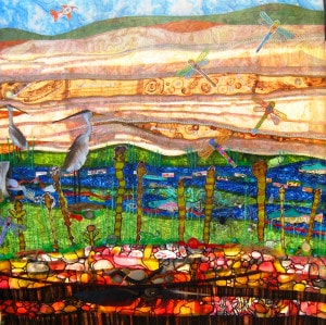 Gorgeous Quilted Panel of the Watershed Mural