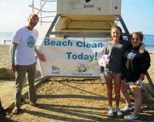 Coastal Clean Up Day Coordinator Sam Dickinson with 2 Wonderful Volunteers