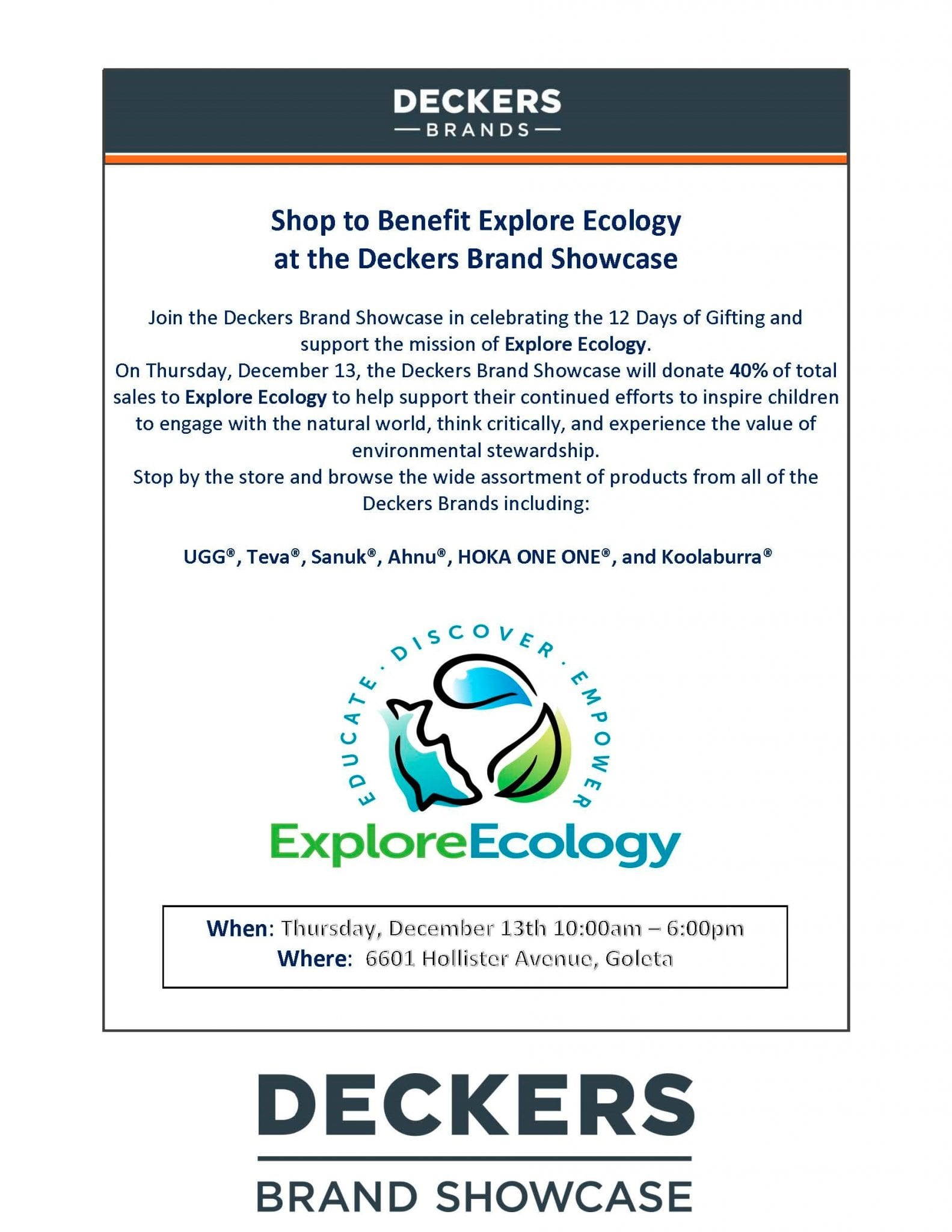 070919b8e Shop at Deckers and Support Explore Ecology - Explore Ecology